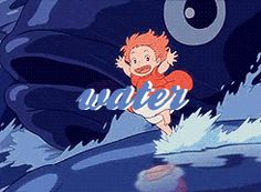 Ponyo made water so amazing.. I wanna be able to run on water that looks like huge fish >.< LIFE IS NOT FAIR GAHHHH