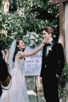 Thai Wedding Dress, Wedding Dresses, Love Destiny, Handsome Faces, Handsome Man, Thai Drama, Drama Movies, Best Couple, Cute Couples