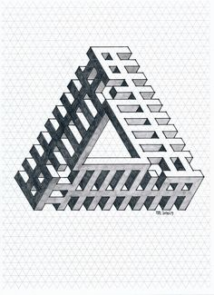 impossible triangle escher