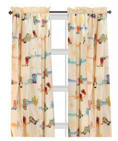 Room Magic Cowboy Window Panels Curtain Set   Nursery Decor At Hayneedle