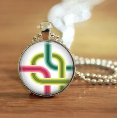 #fun #abstract #design #neon #highway cross roads #glass #necklace or #keychain @Elaine Hwa Lok