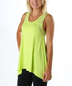 Another great find on #zulily! Lime Mesh Back Maggie Hi-Low Tank by Tsu.ya by Kristi Yamaguchi #zulilyfinds