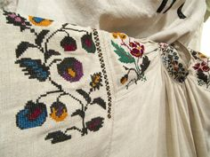 Embroidery is the art or process of forming decorative designs with hand or machine needlework. There is no end to the types of stitches an. Types Of Stitches, Folk Costume, Costumes, Needlework, Embroidery, Blanket, Creativity, Design, Art