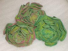 Gumpaste 3 1/4 inch Succulents for Wedding Cakes by GumpasteGarden