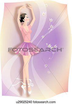 μπαλλαρίνα, χορός Δείτε Εικονογράφηση Μεγάλου Μεγέθους