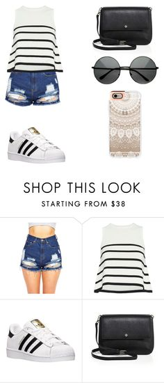 """Sin título #121"" by karenrodriguez-iv on Polyvore featuring moda, Cardigan, adidas, Tory Burch y Casetify"