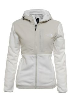 b93c120efb Womens The North Face Denali Fleece Hoodie White High Rise Grey North Face  Coat