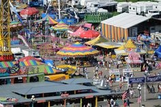 People pass through the midway at the 2008 Iowa State Fair Friday, Aug. Des Moines Iowa Attractions, Iowa State Fair, Great North, Carnival Rides, Southeast Asia, Travel Usa, State Parks, Places To See, Carnivals
