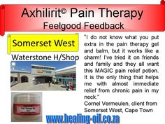 Axhilirit Pain Therapy GEL for chronic neck pain. Client Feedback from Somerset West. For more info visit www.healing-oil.co.za Sports Gel, Somerset West, Muscle Strain, Sprain, Neck Pain, Arthritis, Pain Relief, Feel Good, The Balm