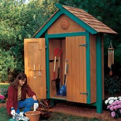 10 Skillful Tips AND Tricks: Garden Tool Shed Galleries garden tool packaging products.Vintage Garden Tool Sheds garden tool sheds porches.Garden Tool Shed Dreams. Wood Storage Sheds, Storage Shed Plans, Wooden Sheds, Garden Tool Organization, Garden Tool Storage, Backyard Sheds, Outdoor Sheds, Outdoor Spaces, Mini Shed