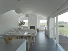 Woodfield House — PG Architects House Designs Ireland, Modern Barn, Beach House, Living Spaces, Dining Table, Dining Room, Architects, New Homes, Contemporary