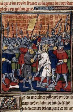 Intercambio Marcial CEME: Formaciones de Infantería (Chroniques de France ou de St Denis , 1270-1380) France)