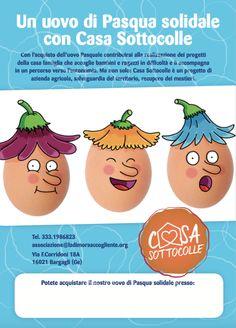 """la locandina delle Uova di Pasqua (con l'uovo """"Pasquale"""" by Macchiavello)"""