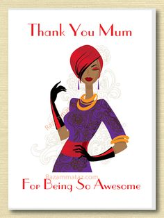 African American 'Awesome' Mother's Day Card