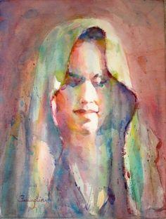 fealing lin watercolors | Fealing Lin Watercolors: The Green Veil