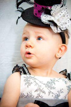 Baby Top hat Facinator by Rebekkahann on Etsy, $30.00