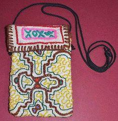 SHIPIBO Handmade Embroidered Small Cloth Medicine Pouch Necklace Amazon, Peru Peru, Pouch, Medicine. eBay