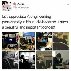 Hardworking Yoongi is seriously sexy and attractive!
