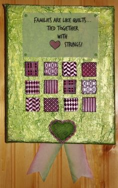 Ann Butler Mixed Media Canvas featuring embossed Cool2Cast squares.