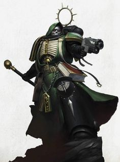 The Black Crusade Warhammer Dark Angels, Dark Angels 40k, Warhammer 40k Figures, Warhammer Art, Warhammer 40k Miniatures, Warhammer Fantasy, Warhammer 40000, Warhammer Models, Space Marine Chaplain