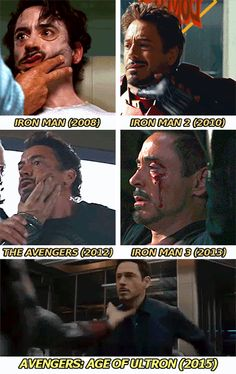 """Things Never Change For Tony Stark. By age of Ultron he's just like """"really? Ok..."""""""