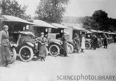 British women ambulance drivers, WW1