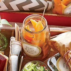 Portable Picnic Printables | Make your grab-and-go fare the life of the party with these printable labels and tags. | SouthernLiving.com
