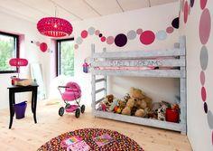 Kesäisen iloisia värejä lastenhuoneeseen.