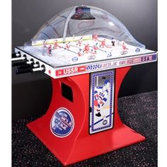 The Super Chexx 1980 Miracle on Ice Arcade Bubble Hockey game is officially licensed and appears on the want list of many hockey collectors.