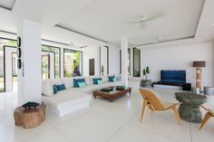 Villa 1 Living Room  | Samui Turquoise villas | Luxury sea view villas on Koh Samui Island, Thailand www.samuiturquoisevillas.com #samuiturquoisevillas