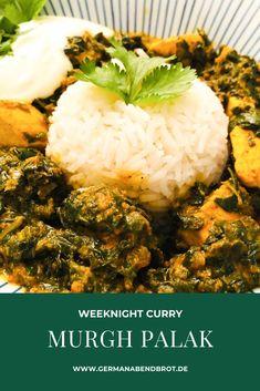 Murgh Palak – indisches Hühnchen mit Spinat Garam Masala, Weeknight Meals, Easy Meals, Gluten Free Soy Sauce, South Beach Diet, Indian Chicken, Indian Food Recipes, Ethnic Recipes, Sesame Chicken