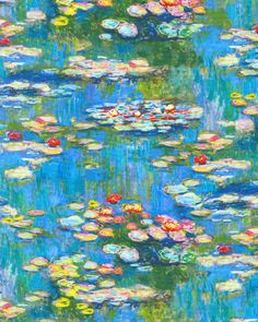 Claude Monet - Water Lily Pond - Pool Blue - DIGITAL PRINT