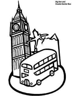 Around the World coloring pages with children and landmarks FIAR