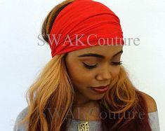 Satin Lined Headband Wrap Wide Headband Pineapple Bun Wrap Headband Wrap, Wide Headband, Knitted Headband, 2nd Day Hair, Pineapple Bun, Bun Wrap, Ponytail Hairstyles, Head Wraps, Love Fashion