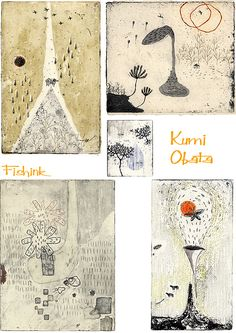 Kumi Obatawas born in Kanagawa and now lives in Tokyo, Japan. She began creating etchings in 2000. I'm never quite sure what it is about etchings that often capture my attention. Could it b…