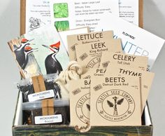 Plowbox from Seattle Seed Co. is a new subscription box that sends you a collection of organic seeds, gardening tips, and more on a quarterly basis. Red Company, Thoughtful Wedding Gifts, Welcome Letters, Organic Gardening Tips, Gardening Hacks, Organic Seeds, Garden Boxes, Garden Seeds, Subscription Boxes