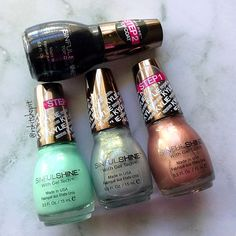 Sinful Colors King Kylie Collection SinfulShine Minty Fresh, Slay Grey, Kafe Latte nails 2016