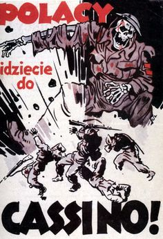 Polish soldiers are killed at Monte Cassino in Italy during World War II, with the caption 'Polacy, idziecie do Cassino!' ('Poles, you're going to Cassino!'), February 1944. The back of this German flyer instructs Polish Allied troops to present themselves to the nearest German border guard, in order to be sent home in safety. (Photo by Galerie Bilderwelt/Getty Images)