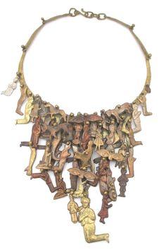Pal Kepenyes, Mexico - vintage massive kinetic 'Milagros' neck piece