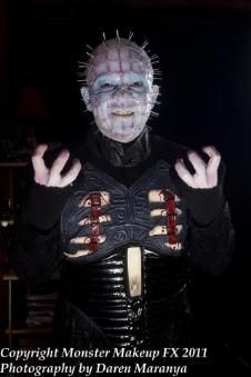 Gustavo as the cenobite Pinhead from the 'Hellraiser' series