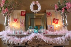 Valentine's Mantel Round Up {mantle} - Home Stories A to Z