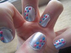 Nails  (nail art,varnish,polish,silver,pretty,nail designs)
