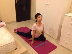 From my private #Prenatal #Yoga class. Eka Raja Kapotanasana or Pigeon pose. #yogi #asana #namaste #yogapose #om #meditation #astridyogini