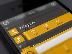 Beautiful black and orange iOS template found on Dribbble. Love the color scheme.