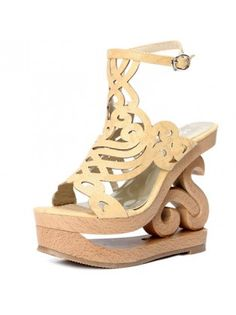Nude Flower Couture Platforms