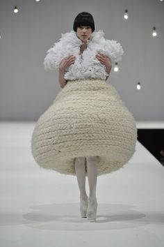 This is so crazily avant garde you can't help but love it. #extremeknit #avantgarde #beoriginal