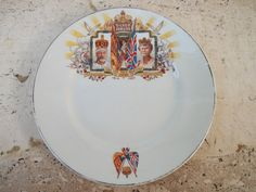 RARE 1935 Antique Plate Commemorating The Silver Jubilee of King George V, by OneReDunn, $75.00
