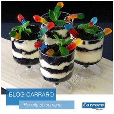 Receita de Dia das Bruxas: Vasinho com terra e minhocas! http://www.carraro.com.br/blog/receita-de-dia-das-bruxas-vasinho-com-terra-e-minhocas/