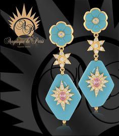 STELLA Angelique de Paris Turquoise Earrings - Aren't these pretty ?!