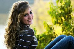 Teen photo in the fall.  Good photo pose for senior pictures.  Photo taken by Gloria Webster